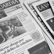What is happening behind the daily Catalan newspaper La Vanguardia?