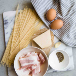 Which is the real Recipe of the popular Carbonara Italian dish?