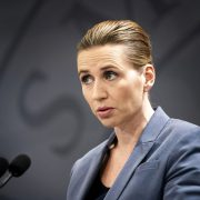 DANISH PRIME MINISTER METTE FREDERIKSEN ANNOUNCES NEW COVID-19 RESTRICTIONS.