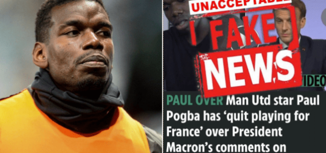 Pogba starts trial against The Sun